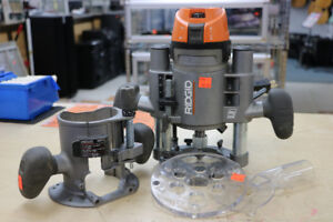 **RIDGID ROUTER** Ridgid corded R2901 fixed base router