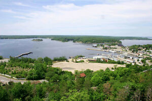 13 acres dev land 580' on Georgian Bay in downtown Parry Sound