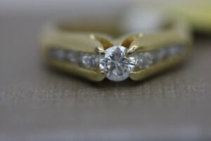 **LAVISH** 14K, Yellow Gold Diamond Engagement Ring (#14456)