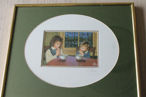 Chantal Poulin framed picture signed