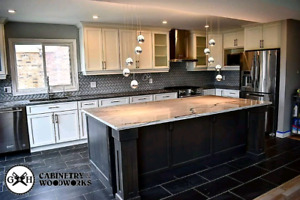Custom kitchen cabinets, vanities, islands, and doors