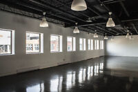 GORGEOUS NEW COMMERCIAL SPACES 12 FOOT CEILINGS IN MILE END!