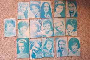 Set of female actor cards (16) from the early 60's $25 OBO London Ontario image 1