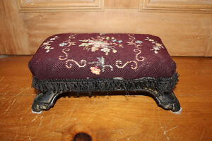 Old Small Cast Iron Foot Stool