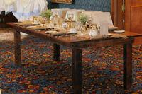 25 Wooden Harvest tables for rent