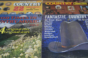 50 Country and Western LP's and CD's.