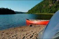 Back country canoe camping