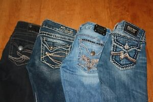 CLEAN OUT MY CLOSET, MISS ME..GUESS AND SILVER JEANS LOT 1