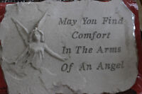 May you find comfort in the arms of an angel stone
