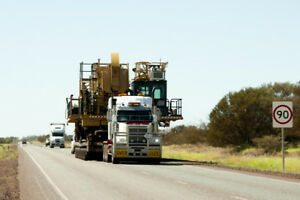 Heavy equipment transport in Canada