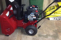 Murray snowblower 7524ES- less than 1 year old