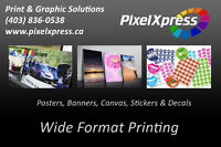 Wide Format Printing (Decals, Banners, Posters, Signs)