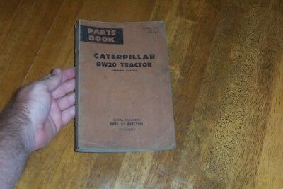 Caterpillar Dw20 Tractor - Gasoline Starting Parts Book