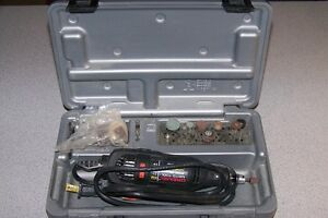 Dremel With Attachments & Case