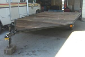 NICE 8 FT X 14 FT DRIVE-0N DRIVE-OFF TRAILER--RE-BUILT