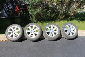 Mags Audi 16po avec pneus Pirelli hiver