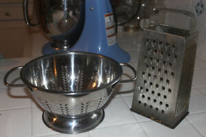 Stainess Colander / Strainer and Box Grater