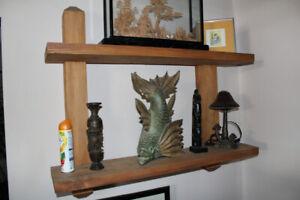 Rustic Pine interlocking wood shelves shelving thick solid
