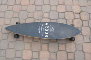 ARBOR pintail longboard, barely used!!