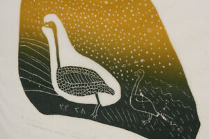 Josie Papialuk (Paperk) A Whistling Swan with its Young