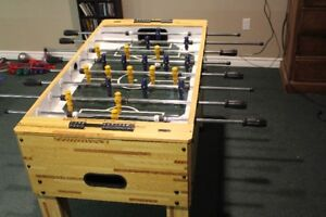 Pool Table and Foosball Table together