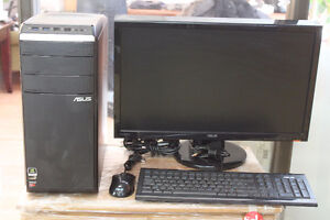 """Asus desktop with 23.6"""" HDMI Full 1080P Widescreen LCD Monitor"""