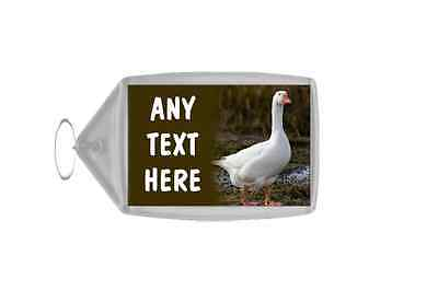 Goose Personalised Keyring