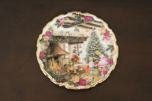 PLATE - CHRISTMAS JOY BY FRED ERRILL - ROYAL ALBERT