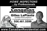 Canadian Residential Home Inspection Services Fredericton