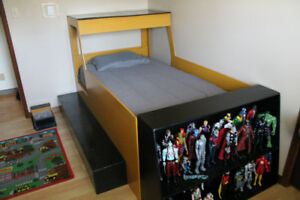 Twin Size Bulldozer Bed
