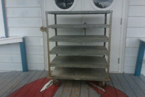 Shelving cart on wheels