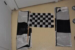 Vrais drapeaux de course Formule 1 et tapis