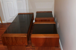 Teak Glass Tables