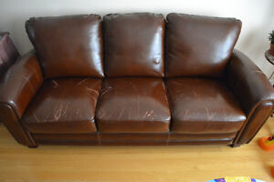 Three Piece Bonded Leather Sofa Set West Island Greater Montréal image 1