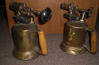 ANTIQUE BLOWTORCH  (PAIR)