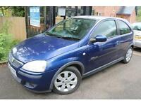 2003 (53 Plate) Vauxhall Corsa 1.2I 16V Blue 3 Door SXI Super Low Mileage