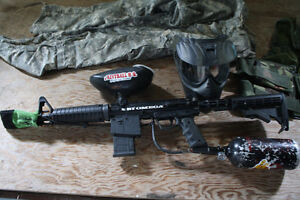 BT OMEGA WORKS Paintball package, Cool gun with air tank mask, Kingston Kingston Area image 1