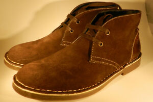 NEW U.S Polo Assn Men's Size 8 Chocolate Suede Leather Bleeker C