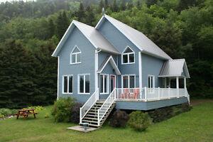 Maison Chalet Bord de l'eau Gaspésie
