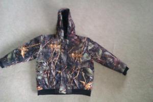 Boy size large, WFS Element Gear Camouflaged Winter Coat