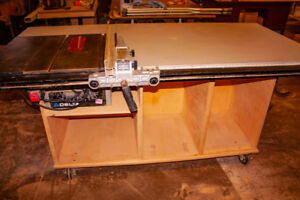 """10"""" Delta table saw/52"""" rip fence."""