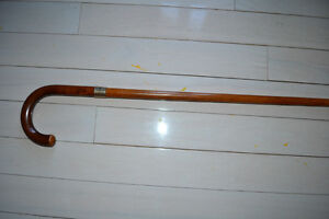 "Victorian Antique 19C ENGLISH 36"" Sterling Bamboo Walking Stick Gatineau Ottawa / Gatineau Area image 1"