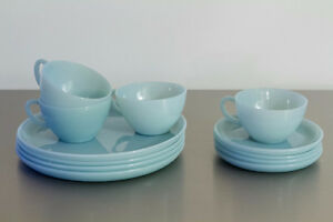 Fire King Turquoise Blue 12 piece dinnerware