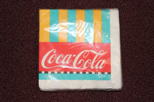 UNOPENED package of 24 Coca-Cola luncheon napkins - 1988 REDUCED