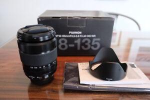 Fuji Fujinon XF 18-135mm f/3.5-5.6 zoom lens - MINT