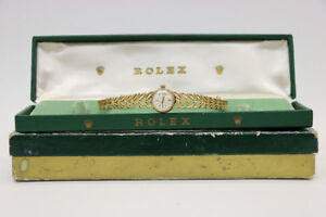 **AUTHENTIC** 14 kt. Yellow Gold Ladys Rolex Watch (#1895)