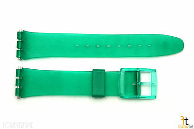 17mm Men's Translucent Frosted Green Replacement Watch Band fits SWATCH watches - Frosted Plastic Watch