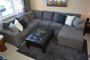 Grey Sectional - With warranty