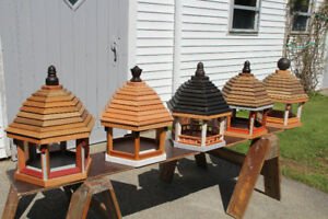 Gazebo bird feeders