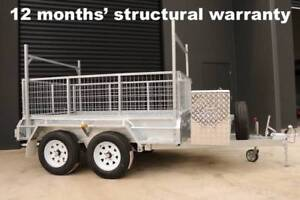 8x5 BOX TRALER FULLY WELDED HOT DIP GALVANISED, WITH 600MM CAGE Lilydale Yarra Ranges Preview
